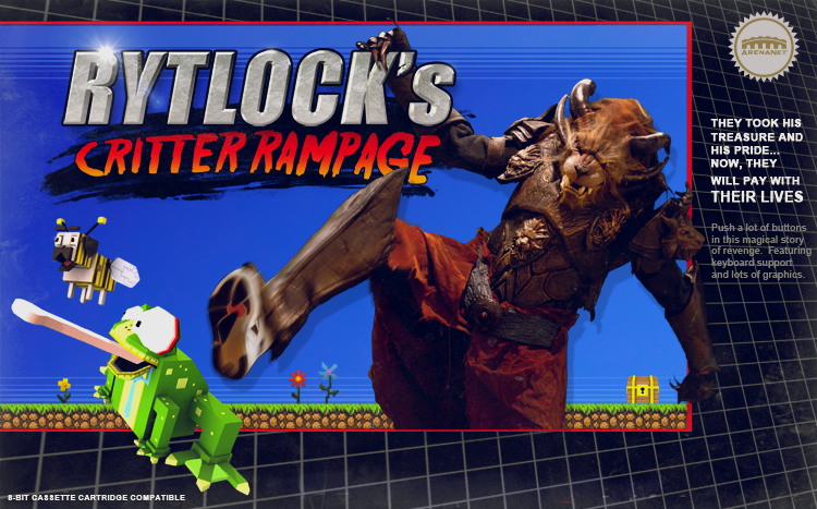 Guild wars 2: Le jeu 8 bit de Rytlock Brimstone!