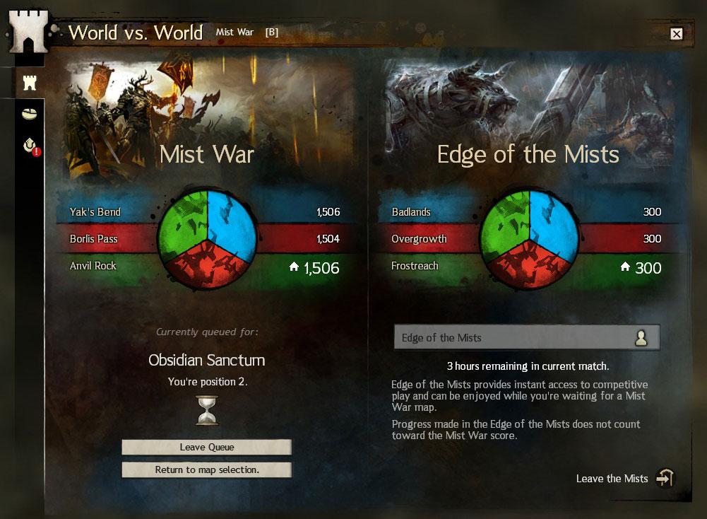 Guild Wars 2 World vs  World Queue Improvements | RPG TITLES