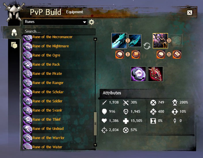 Pvp build ui and quick launch bar