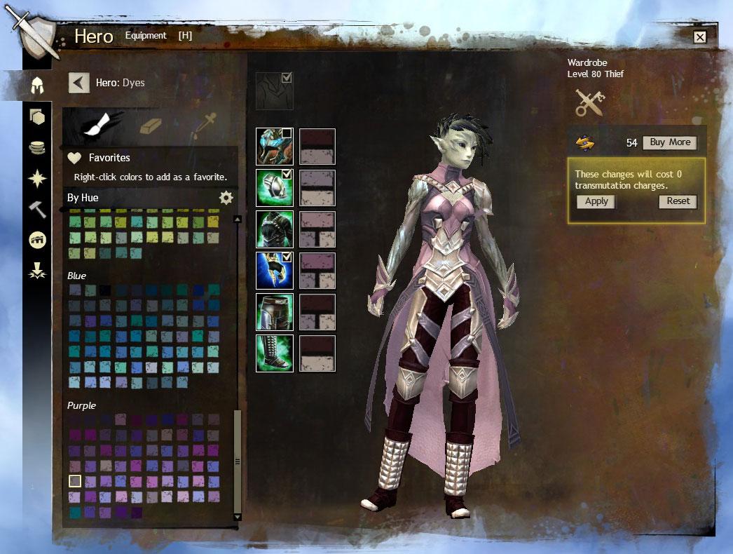 Guild wars 2 garde robe