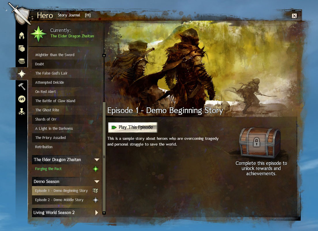New UI Journal Guild Wars 2