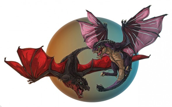 Thunder-and-Fire-Wyverns